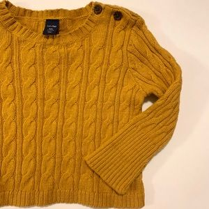 baby GAP 3-6 Month Mustard Yellow Sweater